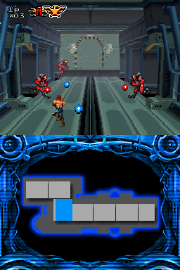 Image of Contra 4's 3D stage gameplay