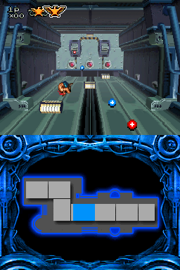 A second image of Contra 4's 3D stage gameplay